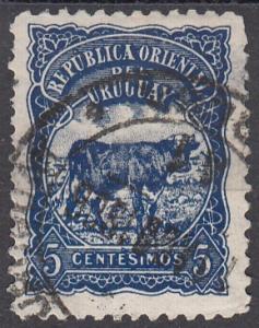 Uruguay, Scott 170 (1), Used, 1906, Cattle