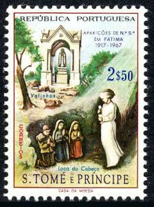 St Thomas & Prince Islands 395, MNH. Valinhos Shrine, Children & Apparition,1967