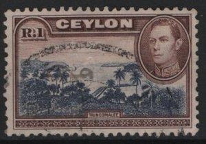 CEYLON, 287, USED, 1938-52, View of Trincomalee