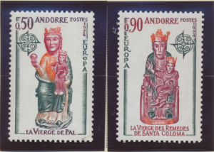 Andorra (French) Stamps Scott #232 To 233, Mint Never Hinged, Europa 1974 - F...