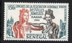 Senegal   #C35   1964  MH   twin cities congress Dakar