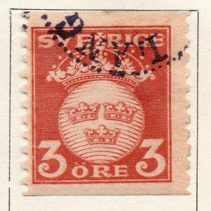 Sweden 1921 Early Issue Fine Used 3ore. 133397