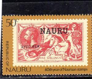 Nauru Anniv of Postage Stamp MNH