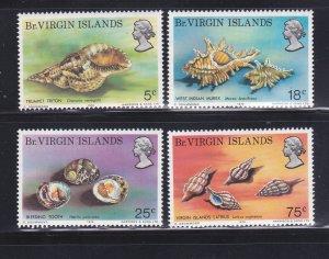 Virgin Islands 274-277 Set MNH Sea Shells