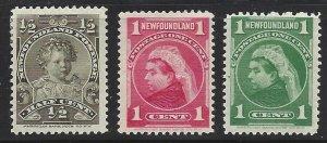 Newfoundland #78 79 80    v