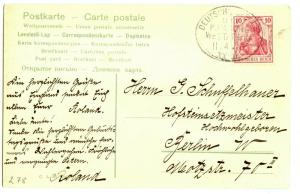 Seapost, 1908 Lucie Woermann HWAL XXXII PPC of Southampton, 11.04.08