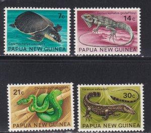 Papua New Guinea # 344-347, Turtle - Reptiles, NH, 1/2 Cat.,