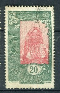 FRENCH COLONIES: SOMALIS 1915-20 early pictorial issue used 20c. value,