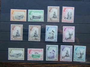Swaziland 1961 set to R2 on £1 MNH SG65 - SG77a