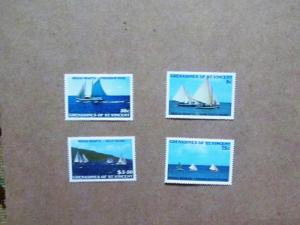 Grenadines of St. Vincent - 586-89, MNH Set. Bequia Regatta. SCV - $1.25
