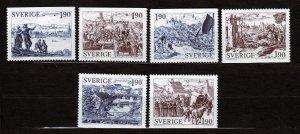 J23096 JLstamps 1984 sweden set mnh #1508-13 engravings