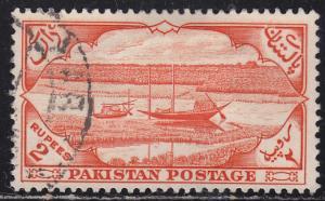 Pakistan 72 Rivercraft and Jute Field  1954