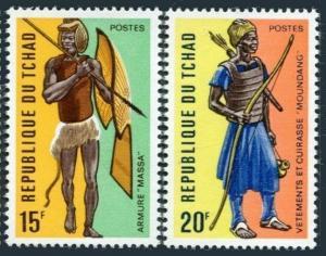 Chad 277-278,MNH.Michel 605-606. Moungang warrior,Massa warrior.1972.