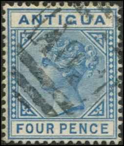 Antigua SC# 10 SG# 23 Victoria 4d wmk 1 Used