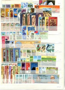 COOK ISLANDS; SAMOA early 1950s-70s Accumulation fine Mint & used LOT
