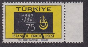 Turkey # 1433, Blackboard & School Emblem, NH, 1/2 Cat.