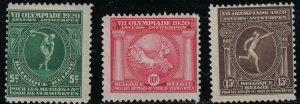 Belgium SC B48-B50 7thOlympicGames,1920 Surtax(H)1920