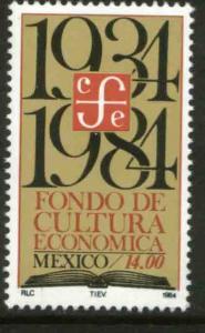 MEXICO 1360 50th Anniv Economic Culture Editorial Fund MINT, NH. VF.