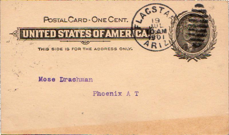 United States Arizona 1901 Postal History