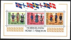 Faroe Islands. 1983. bl1. Folk costumes. MNH.