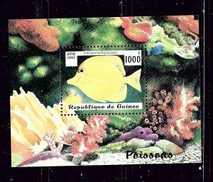 Guinea 1409 MNH 1997 Fish souvenir sheet