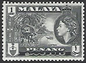 Malaya Penang #45 Mint Hinged Single Stamp