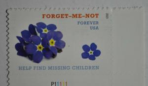 United States 2015 forever stamp Forget me not unused