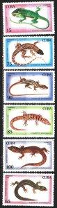 Cuba. 1994. 3792-97. Lizards, fauna. MVLH.