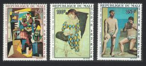 Mali Picasso Commemoration Paintings 3v SG#146-148