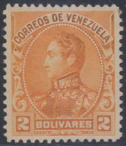 VENEZUELA 1901 BOLIVAR Sc 149 Yvert 64 TOP VALUE HINGED MINT F,VF SCARCE €565.00