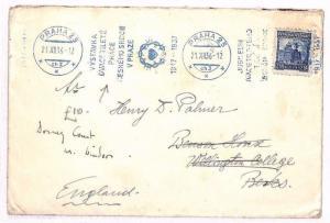 AU65 1936 Czechoslovakia *PRAHA* Cover Berks GB {samwells-covers}PTS