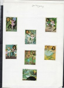 paraguay ballet & oil portrait painting stamps page ref 18110
