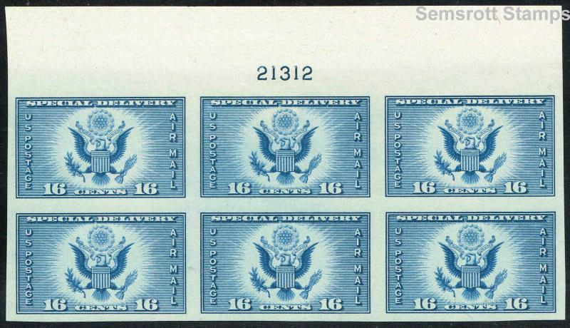 771, XF NH 16¢ Special Printing Plate Block of Six Stamps NGAI  Semsrott Stamps