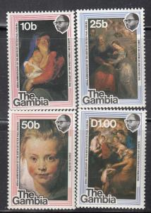 Gambia MNH 371-4 Ruben's Paintings The Dream 1977