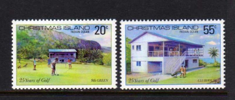 Christmas Island #93-94 Mint MNH Unused NH Golf Golfing