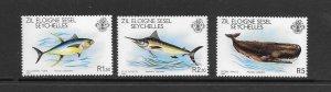 FISH - ZIL ELWANNYEN SESEL #20-22  MNH