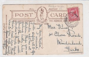 G. Britain 1919 Ashford Middx Station Railway Cancel Picture Stamps Card Rf34048