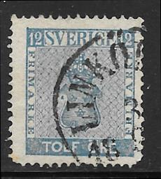 Sweden 9 used 2013 SCV $12.50 missing 2 corner perfs  -  2813