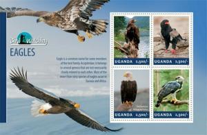 Uganda - 2014 Eagles on Stamps - 4 Stamp Sheet - 21D-167