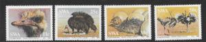 SOUTH WEST AFRICA SG439/42 1985 OSTRICHES MNH