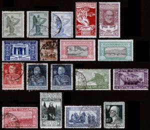 Italy Scott 136 // 189 (1921-1927) Used/Mint H F-VF, CV $126.60 B