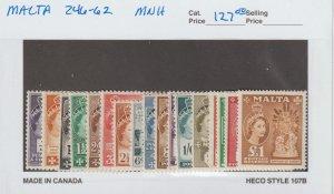 Malta 246-62 VF MNH
