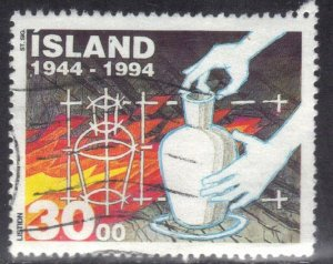 ICELAND   SC# 783 **USED** 30k 1994  CRAFTS    SEE SCAN
