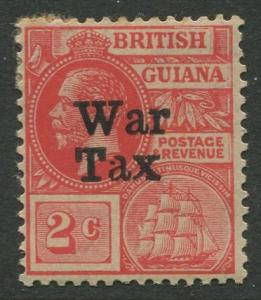 STAMP STATION PERTH British Guiana #MR1 - War Tax MH Wmk 3 CV$2.00