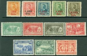 EDW1949SELL : BRAZIL 1922-28 Sc #260-62, 264, 290-97 All Cplt set VF MOG Cat $98