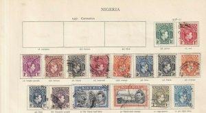 NIGERIA 1938-51 COMPLETE SET MINT/USED