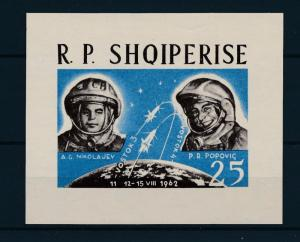 [48755] Albania 1963 Space Travel Wostok 3 Weltraum Imperforated sheet MNH