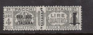 Italian Socialist Republic #Q10 NH Mint Pair