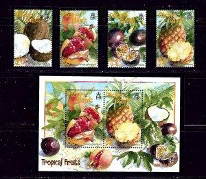 Pitcairn Is 535-38a MNH 2001 Tropical Fruit