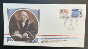 US #1393D,2115 Used on Cover - Bicentennial of Constitution 1787-1987 [BIC7]